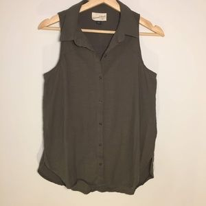 Universal Thread Olive Green Button-Down